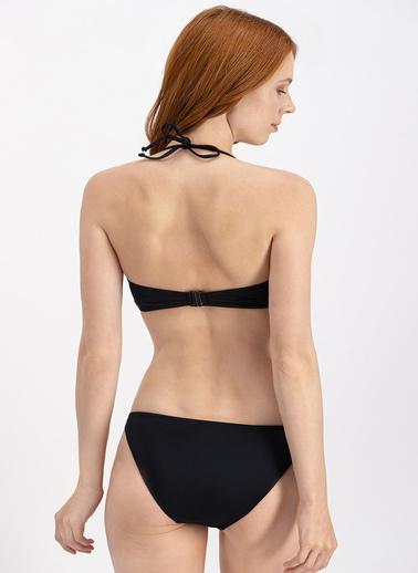 Arnetta  Siyah Straplez Bikini Üstü Siyah